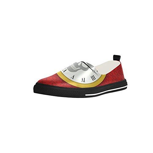 D-histoire Coutume Tock Crâne Slip-on Microfibre Chaussures Sneaker