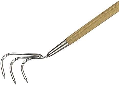 Kent /& Stowe 70100086 Stainless Steel Hand 3 Prong Cultivator