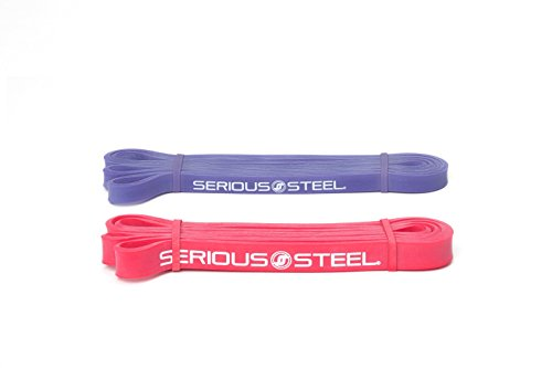 Serious Steel Fitness Pilates, Rehabilitation, Pull-up Resistance& Assisted Pull-up Band Package #1, 2 Band Set (5-50 Lbs) FREE Pull-up and Band Starter e-Guide by Serious Steel Fitness (Image #1)