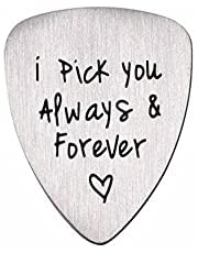 I Pick You Always and Forever Guitar Pick Gift for Boyfriend Husband Musical Gifts for Women Men Anniversary Birthday Gifts for Girlfriend Wife