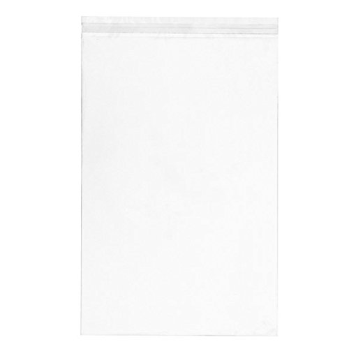 ClearBags 11 7/16 x 17 1/4 + Flap Crystal Clear Seal Top Bags with Resealable Adhesive on Bag | Protects Photos, Artwork, Crafts, Favors | Acid Free and Archival Safe | B1117A (1 Pack of 100)