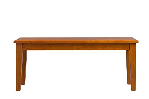Boraam 36136 Shaker Bench, Oak - Solid Oak Dining Table