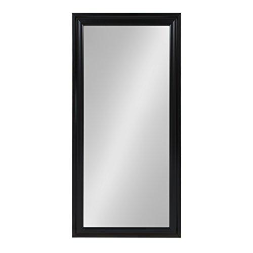 Kate and Laurel Umber Extra Large Beveled Wall Mirror Full Length Floor Leaner, 29.5x65.5, Black