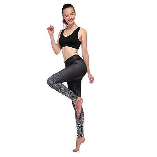 WZXY Flower Print Gym Quick-Drying Legging Yoga Breathable Sport Leggings Women Vetement Sport (Vetement Sport)