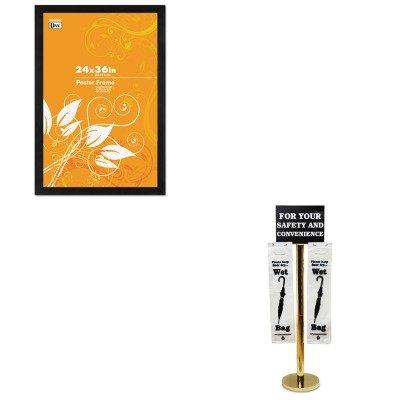 KITDAX2863U2XTCO57029 - Value Kit - Tatco Wet Umbrella Bag Stand (TCO57029) and DAX MANUFACTURING INC. Black Solid Wood Poster Frames w/Plastic Window (DAX2863U2X)