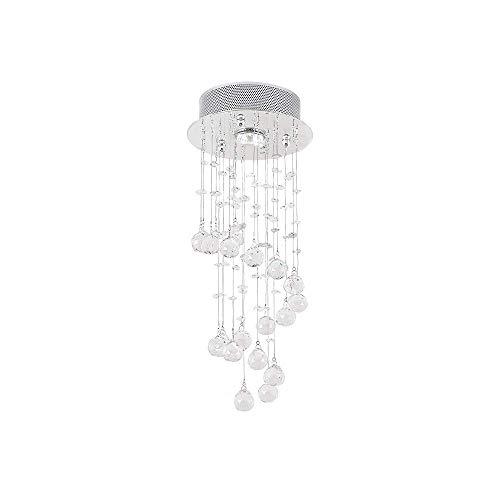 Crystal Raindrop Pendent Light Mini Chandeliers Ceiling Lamp Modern Ceililng Lighting fixtures Flush Mount LED Lamp for Living Room (Raindrops Mini Chandelier)