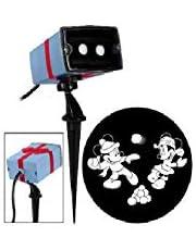 Gemmy Disney Christmas Mickey & Minnie LED Projection Spotlight - White