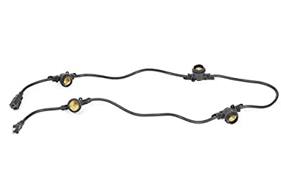 Multi-Socket Cord with 18-inch Socket Spacing and 4 Medium-Base Sockets (E26), 6 Foot, Black. Ideal for LED Grow Light Bulbs.