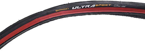Continental ULTRA SPORT II Fold BW Bike Tire, 700cm X 25, Red