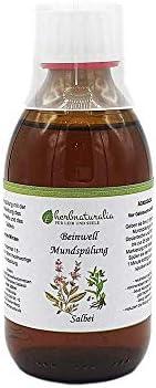 herbnaturalia ® Beinwell Mundspülung (250ml) mit Salbei - Konzentrat mit praktischem Dosier Becher - ergibt ca. 1,2 Liter hochwertige Mundspülung mit der Heilkraft des Beinwells und Xylit