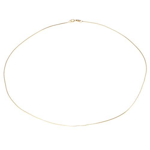 (SM SunniMix 925 Sterling Silver Snake Chain Necklace for Charms Pendants 18'' DIY Gifts - Gold)