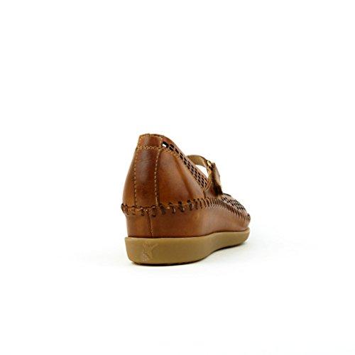 Pikolinos Mujeres Zapatos llanos blanco, (weiss) W8K-5663 NATA marrón