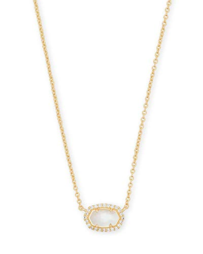 Kendra Scott Chelsea Gold Pendant Necklace in Ivory Pearl (Womens Ivory Necklace)