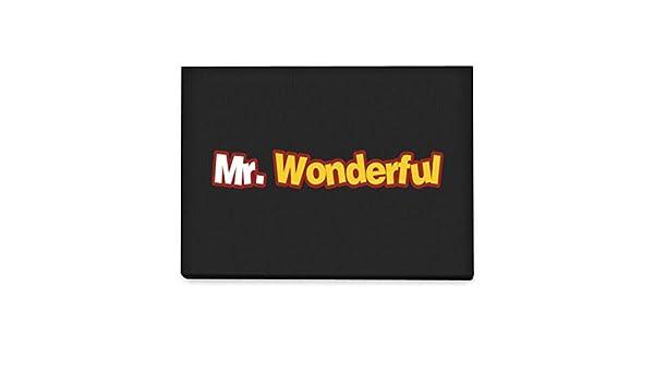 Idakoos Mr Wonderful Moved Font - Funny/Adjetivos - Cuadro En Lienzo: Amazon.es: Hogar