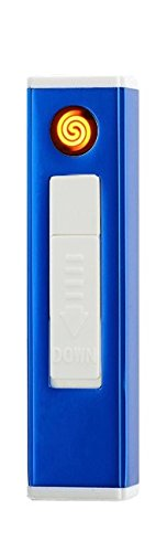 Phoenix Lighter USB Rechargeable Heated Coil | No Gas, Flameless, Wind Resistant, Eco Friendly | Perfect for Lighting Cigarettes Candles & More | Includes USB Charger (Blue) (Phoenix E Cigarettes)