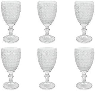 Juego de 6 copas de cristal Villa DEste Home Tivoli 2195425 Strand transparentes