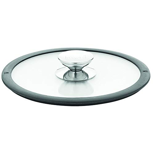 Berndes 007576 Glass Lid with Black Silicone Rim 6.75 Inches Diameter