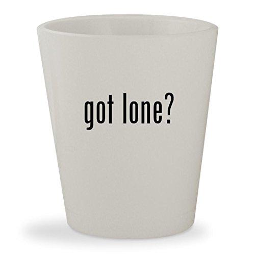 Lone Wolf Mask (got lone? - White Ceramic 1.5oz Shot Glass)