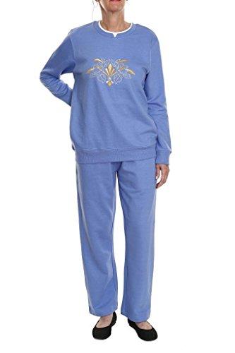 Pembrook Women S Embroidered Fleece Sweatsuit Set