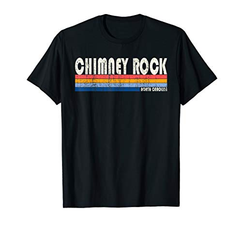 Vintage 70s 80s Style Chimney Rock NC T-Shirt ()