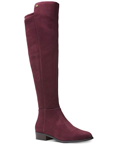 - Michael Michael Kors Women's Knee High Bromley Riding Boots in Damson Burgundy (5.5M)