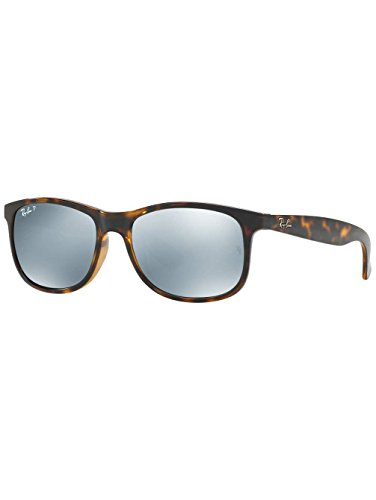 Ray-Ban Mens Andy Sunglasses (RB4202) Tortoise/Blue Plastic,Nylon - Polarized - - Rb4202 Ray Ban