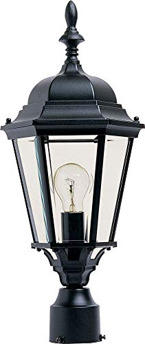 - Maxim 1005BK, Westlake Cast Aluminum Post Lamp - 100W Black Outdoor Post Lighting, Incandescent Post Lantern. Lighting Fixtures