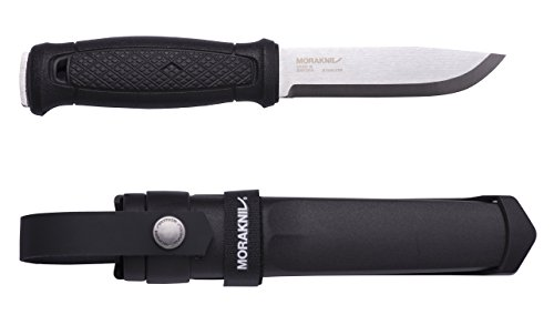 Morakniv M-12642 Garberg Full Tang Fixed Blade Knife with Sandvik Stainless Steel Blade and MOLLE Compatible Mounts, 4.3-inch (Best Stainless Steel For Knife Blades)