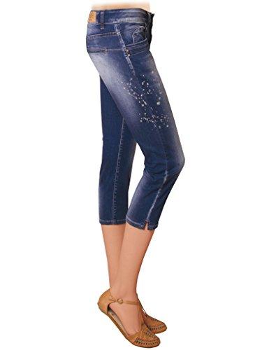 710 Stone elasticizzato normale pinocchietto Lavaggio regular Jeans modello vestibilità Jeans donna Carrera 752 vita con per stampa Blu Medio tessuto Wash modello WqwPROgaT