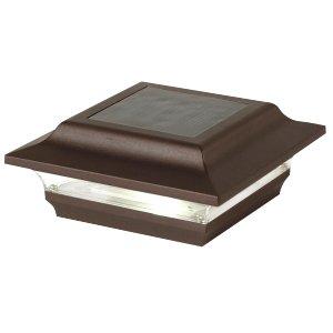 Classy Caps SL211R 4×4 Imperial Solar Post Cap – 2 Pack/Bronze For Sale