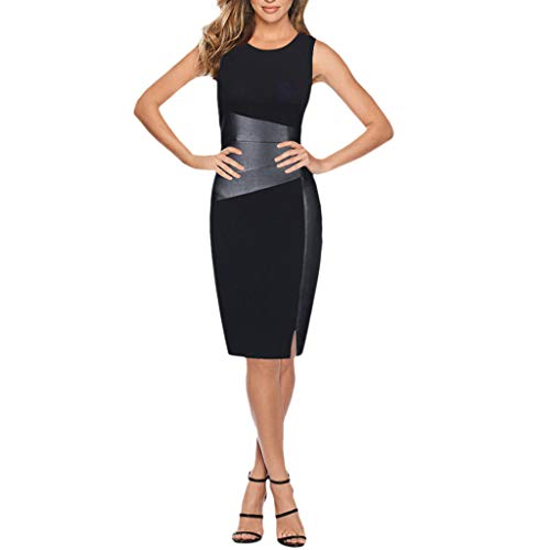 Women Dress Daoroka Ladies Sexy Plus Size Plaid Wear Work Office Pencil Bodycon Elegant Casual Sheath Party Skirt (S, Black 2)