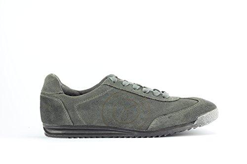 Zapatillas Deportivas Para Hombre Calvin Klein Jeans Mod. Maximius Stone Washed Suede Coronel Gris Oscuro.