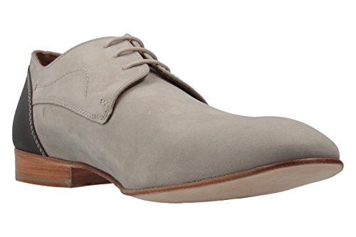 Manz - Zapatos de cordones de Piel para hombre gris gris