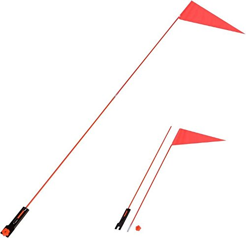 Flag Burley - Trademark Innovations Bicycle Safety Flag 5'. Safety Flag with Bicycle Mounting Bracket