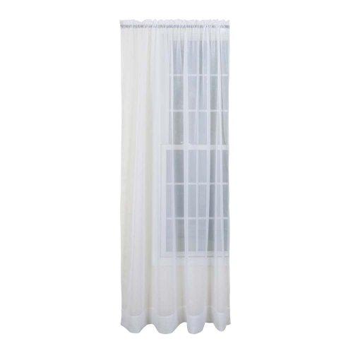 Amazon Stylemaster Sheer Voile Elegance 60 X 120 Panel White Home Kitchen