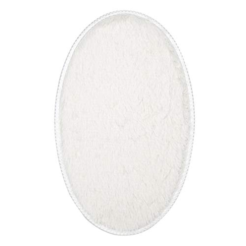 3050cm Soft Absorbent Plush Sponge Bedroom Bath Bathroom Shower Floor Door Mat Rug Non-Slip Oval Carpet