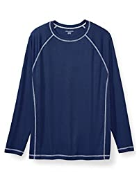 Amazon Essentials Men's Big and Tall Big & Tall Long-Sleeve Quick-Dry UPF 50 Swim Tee