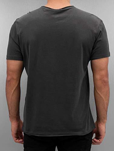 Nirvana carbone legna Amplificata smiley Homme shirt T di Grey Cc ZpdwFY