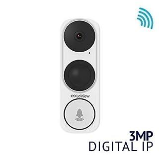 LaView ONE Halo HD 3MP 2K Wi-Fi Doorbell Camera, Two-Way Audio, 180° Wide Angle, Weatherproof Front Door Security Camera, Wired Video Doorbell, Door Camera
