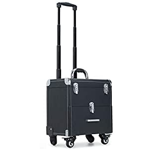 Amazon.com: BECASE Maquillaje Train Case Trolley Cosméticos ...