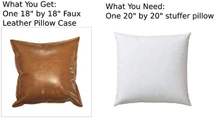 Amazon.com: Fundas de almohada de piel sintética para sofá ...