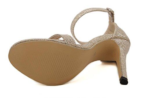 romaines unique Casual gold XDGG 43 hauts 38 Sandales Grandes chaussures Chaussures Chaussure Talons Femmes 35 Oggxqv7TX