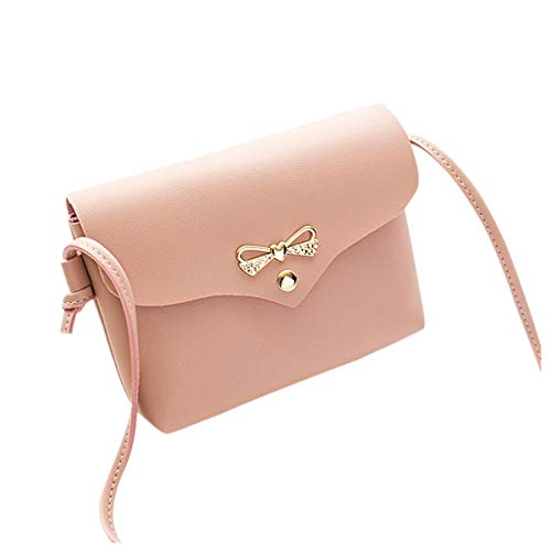 febcd5896cd9 KONFA Crossbody Bags for Women,Ladies Teen Girls Solid Colors Phone Coin  Holder Leather Bag (Pink)