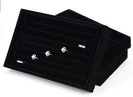 Caja Terciopelo para Joyas Anillos Pendientes Organizador de ...