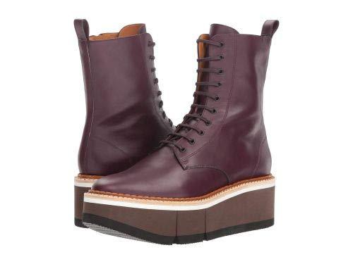 Clergerie(クレジュリー) レディース 女性用 シューズ 靴 ブーツ レースアップブーツ Berenice - Aubergine Leather Calf [並行輸入品] B07GQGXBBY 41 (US Women's 10.5) M
