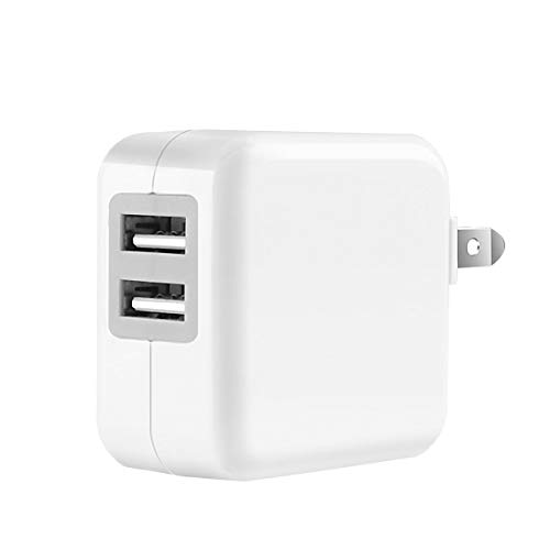 Cargador USB, Joly Joy Cargador de Pared con Certificación NOM Carga Rápida con Doble USB 2.4A y 1A para Celular iPhone X/...