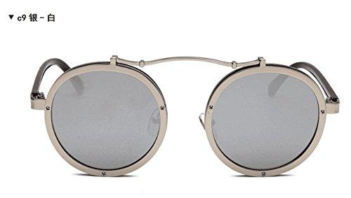 Sol para Sol H F Moda De De Gafas De Gafas Mujer Gafas Punk JUNHONGZHANG Metal De Gafas Sol De AXwqZxS