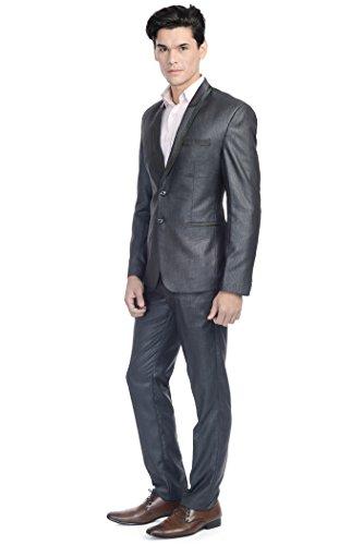 Wintage - Costume - col à revers - Manches Longues - Homme -  Noir - 44