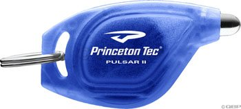 Princeton Tec Pulsar II White LED Keylight Translucent Blue (Tec Translucent Flashlight)