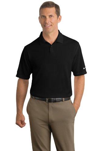NIKE GOLF Short Sleeve Dri-FIT Pebble Texture Polo Sport Shirt - Black 373749 L - Nike Dri Fit Polo